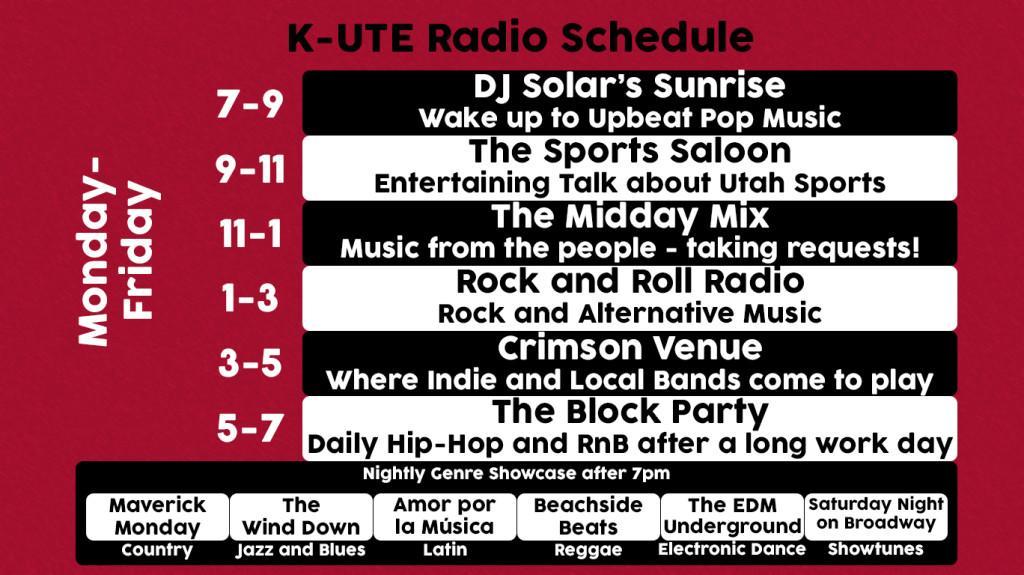 K-UTE 2015 Schedule