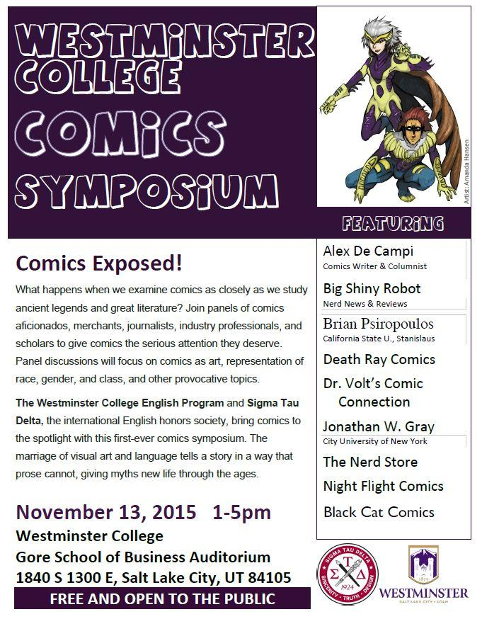 Comics Symposium Flyer