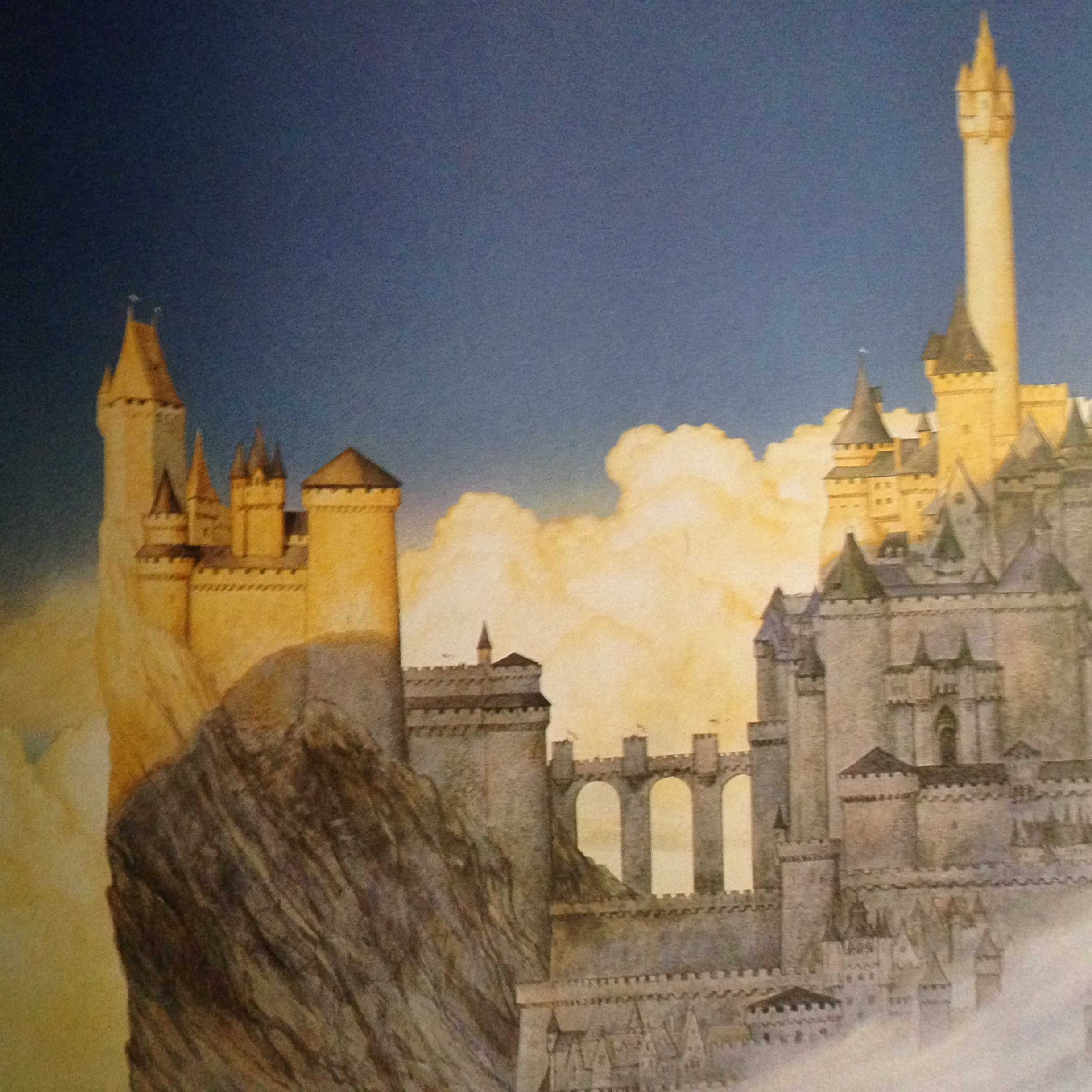 Minas Tirith, Tower of The Morning by John Howe. The Lord of the Rings. Tolkien's World (MJF Books, 1992)
