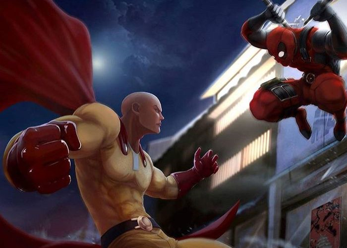 One Punch Man vs Deadpool Aron Hines The Geekwave